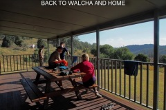 HAVING A CUPPA AT CEDAR CREEK HUT BEFORE DRIVING BACK TO WALCHA