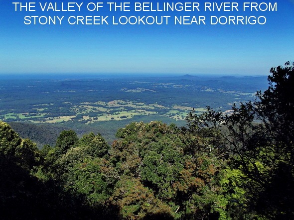 THE VALLEY OF THE BELLINGER RIVER FROM STONY CREEK LOOKOUT