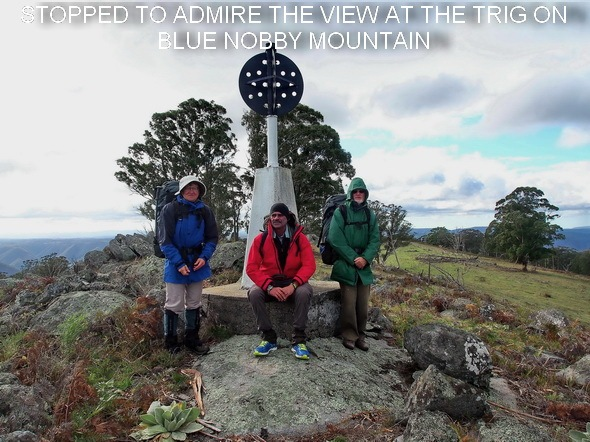 STOPPED TO ADMIRE THE VIEW AT THE TRIG ON BLUE NOBBY MOUNTAIN